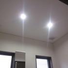施工後。LED照明2灯。照明はセンサーで、換気扇は手動がオススメ。