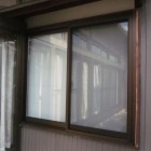 施工後。今回のお宅の場合は内付けサッシだったので、外壁も内装もさわる事なく取り替えられる箇所が多かったです。この箇所もうまいことサッシ本体だけの交換で済みました。