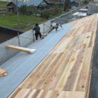 11月の施工という事もあって、片屋根ずつ施工しました。
